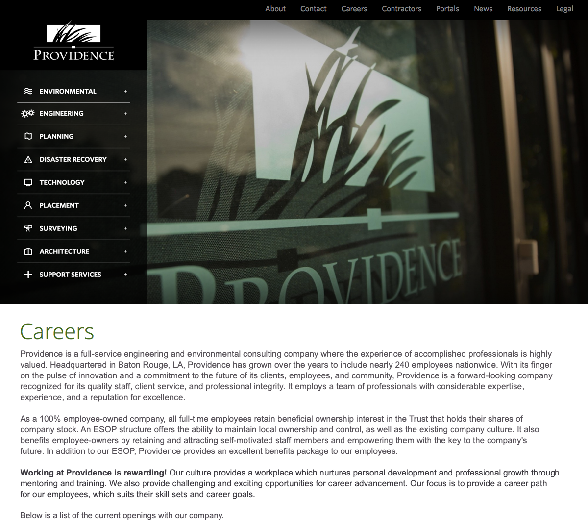 Providence – An Engineering, Environmental, and Disaster Recovery Firm